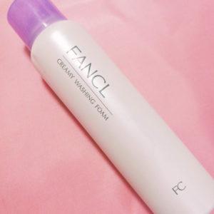 FANCLクリーミィ泡洗顔料表面