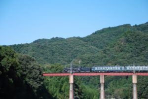 荒川橋りょうとSL列車