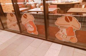 カービィカフェの外壁装飾