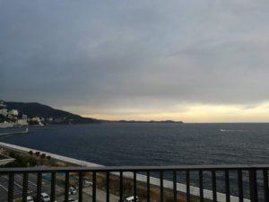 熱海後楽園ホテルから見た海