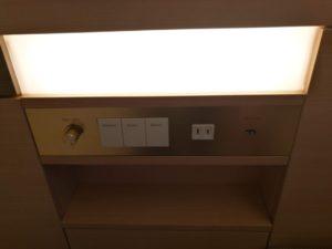 熱海後楽園ホテルのベッドの電気