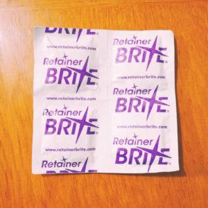 リテーナーやマウスピースの洗浄剤BRITE